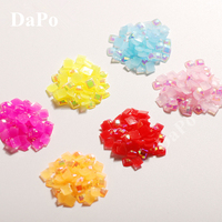 4mm 1000pcs Square Grid Jelly Color AB Resin Fashion 3D Flat back Rhinestone  Stone Clothing Jewelry da1799baf39a