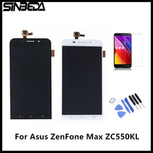 "Sinbeda 5.5"" LCD Sreen Display For Asus Zenfone Max ZC550KL Touch Screen Digitizer Assembly Black/White +Free Tempered Glass(China)"