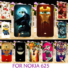 AKABEILA Hard Plastic Phone Case For Nokia 625 Colored Case For Nokia Lumia 625 N625 625H 4.7 inch Cover Housing(China)