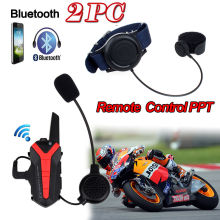 2017 Arrival! 2 pcs X3 Plus Motorcycle Bicycle Waterproof Bluetooth Helmet Headset Intercom 3KM Group walkie talkie PTT Control
