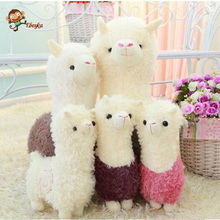 Alpaca Plush Doll Toy Fabric Sheep Stuffed Animal Plush Llama Yamma Birthday New Year Christmas Gift For Baby Kid Children(China)