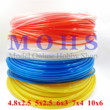 High quality 5meter/lot gasoline fuel line fuel tube gasoline methanol glow super soft rc aircraft  boat car oil gas pipe tubing