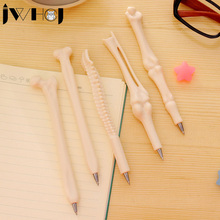 2 pcs/lot JWHCJ Novel simulation bone shape ballpoint pen stationery canetas material escolar shool supplies Free shipping