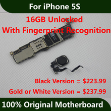 Full Function For iPhone 5S Motherboard 16GB Unlocked 100% Original Good Working Mainboard With Touch ID Logic Board Fingerpint