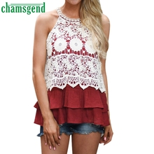 CHAMSGEND Good Deal high quality  Womens Summer Sexy Casual Tank Crop Tops Vest  T-Shirt 1pc_U00442