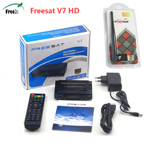 SATXTREM Freesat V7 HD Satellite TV Receptor Full 1080P DVB-S2 TV BOX Support CCCam Biss Key Youtube Free USB WIFI Spain offer(China)
