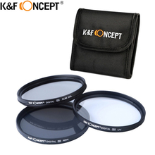 Buy K&F CONCEPT UV+CPL+ND4 Lens Filter Sets+Filter Pouch/Bags 52mm 58mm 62mm 67mm 72mm 77mm Nikon Canon Sony Pentax DSLR Camera for $13.40 in AliExpress store