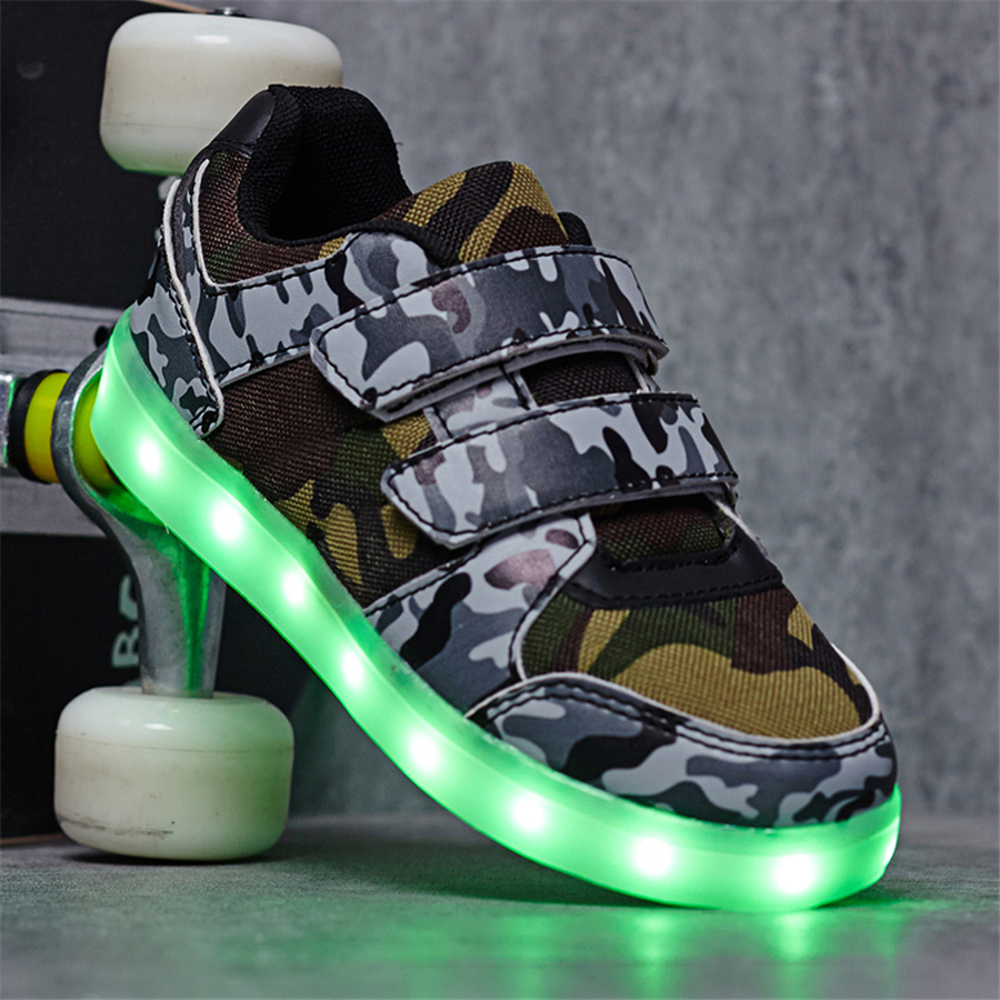 Shoes Chaussure Light Up Shoes Led Junior Luminous Shines Sneakers With Luminous Sole Rechargable Led Sneakers Kids 50Z0072<br>