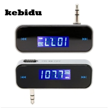 kebidu Handfree 3.5mm Car Radio FM Transmitter Hands With Micro USB Cable Wireless Car Kit Music Audio For iPhone for Samsung(China)