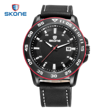 SKONE Male Military Wristwatch Fashion Casual Watches 3ATM Water-resistant Men Quartz Watch Promotional Presents for Men(China)