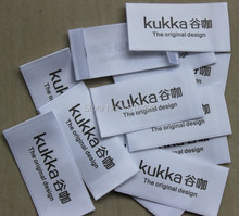 Free shipping custom printed satin labels/garment clothing tags/woven labels/brand name printing/logo 1000 pcs a lot