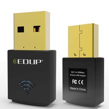 EDUP EP-N1557 Black Realtek RTL8192CU 300Mbps Mini USB Lan Wifi Wireless Network Card Adapters 50pcs/lot Free DHL
