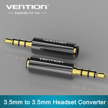 Vention 4 pole 3.5mm to 3.5mm RCA Audio Gold-Plated headphone plug Connectors jack adapter plug jack Stereo Headset 1PC(China)