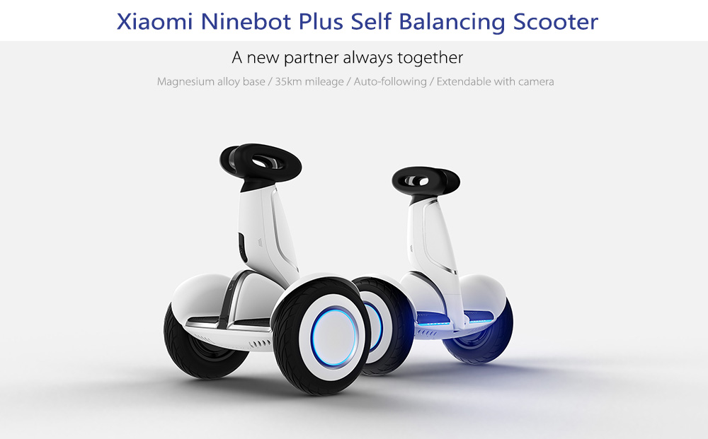 Original 2pcs Ninebot Xiaomi Ninebot Plus Electric 11 inch Self Balancing Scooter ocean shipping to Israel