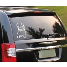 1 pcs Fashion New Strong Adhesive 3d Stickers French Bulldog Dog Car Sticker Vinyl Cars Decal Custom Window Door Wall Sticker(China)