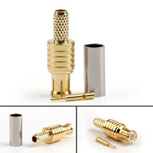 MCX Connector Male Jack Plug Crimp Straight RF Connector For RG174 RG178 RG316 LMR100 Cable Wire 8PCS 50 ohm New Wholesale