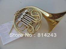 One Horn Double Row 4 Key Single French Horn FB Key French Horn With Case Surface Gold Lacquer Professional Musical Instrument