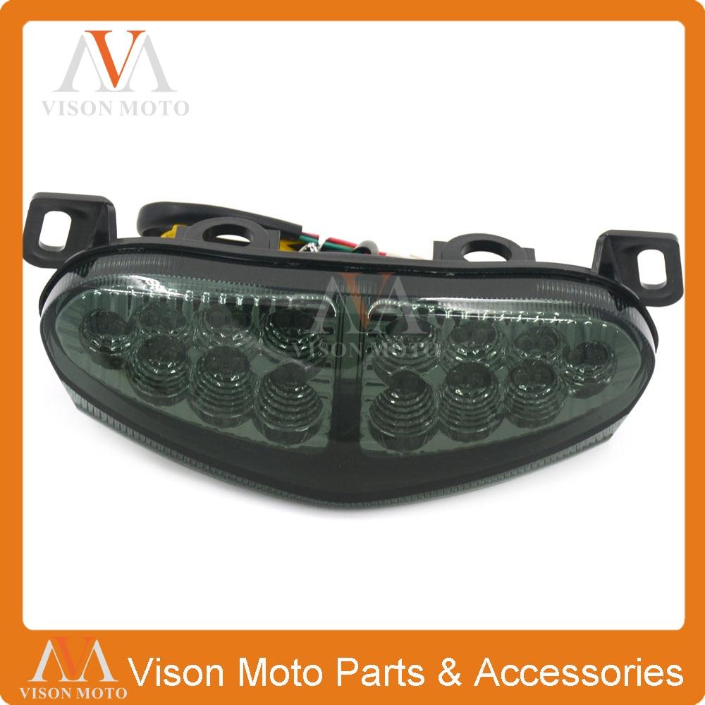 Motorcycle Rear Tail Light Brake Signals Led Integrated Lamp Smoke Light For KAWASAKI ER6N ER6F 2009 2010 2011<br>