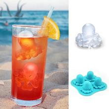 Creative Food Grade silica gel mould ice tray  Octopus Modeling ice box L35