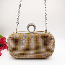 Shimmering Diamante Crystal Evening Clutch Purse Wedding Prom Women Bag Hot(China)
