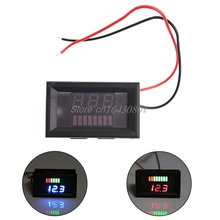 12V Acid lead Battery indicator capacity digital LED Tester voltmeter /CAR Color Blue/Red #S018Y# High Quality