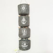 1pcs Navy Style Cotton Linen Storage Bag Creative Wardrobe Hang Bag Wall Pouch Cosmetic Toys Organize Pockets Home Storage Bag(China)