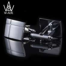 WAOE 2017 New Fashion Square Cross Shirt Cufflinks For Mens Business Suit Cuff Links Gemelos Cuff Buttons Men Jewelry