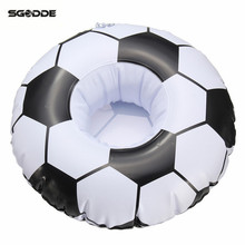 Football Soccer Floating Inflatable Drink Cell Phone Cup Holder Stand Pool Toys Event & Party Supplies Bottle Water Pool Decor
