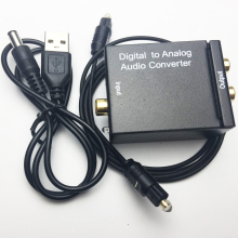 coaxial/optical toslink digital audio to Analog audio converter adapter with spdif cable&USB DC cable