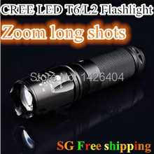 CREE XML T6 LED Flashlight 2000 lumens Torch Zoomable Lanterna Waterproof Handlight Bright Lanterns Outdoor Camping Lamp