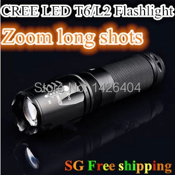 CREE XML T6 LED Flashlight 2000 lumens Torch Zoomable Lanterna Waterproof Handlight Bright Lanterns Outdoor Camping Lamp(China (Mainland))