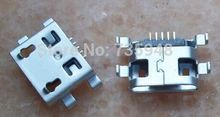 100pcs/lot Free shipping  Micro mini 5P USB jack socket connector for Alcatel One Touch Idol Dual OT-6030D A E OT6030 6030