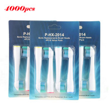 Wholesale 4000pcs HX2014 Sonic Electric Tooth Brush Replacement For Philips Sonicare Toothbrush Heads Soft Bristles Sensiflex(China)