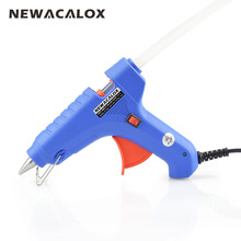 NEWACALOX 40W EU Plug Hot Melt Glue Gun with Free 1pc 11mm Glue Stick Heat Temperature Tool Mini Guns Thermo Gluegun Applicator(China)