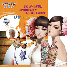 SGS Certificate A4 Temporary Tattoo Paper Tattoo Sticker Water Transfer Paper Film Sheets for Inkjet/Laser Printers DIY Tattoos(China)