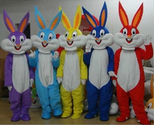 High quality Adult Kids Size gray Bugs Bunny Mascot Costume Rabbit For Festivals Party Dress
