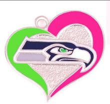 New Arrival Football Team Logo darker pink Seahawks Charms(China)
