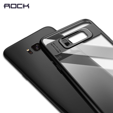For Samsung Galaxy S8 Case, ROCK Full Protective Slim TPU & Acrylic Transparent Back Cover Case for Samsung Galaxy S8 plus Case(China)