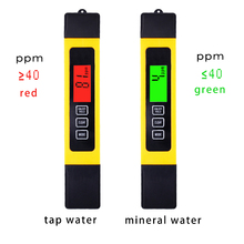 3 in 1 Digital TDS EC temp PPM Water Quality Meter Tester Pen Titanium alloy probe for Aquarium Pool with backlight 50% off(China)