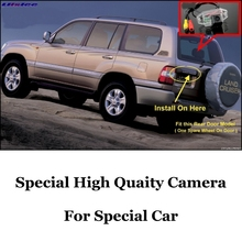 For TOYOTA Land Cruiser LC 100 LC100 J100 1998~2007 ( Spare Wheel On Rear Door ) High Quality Rear View Back Up Camera CCD | RCA