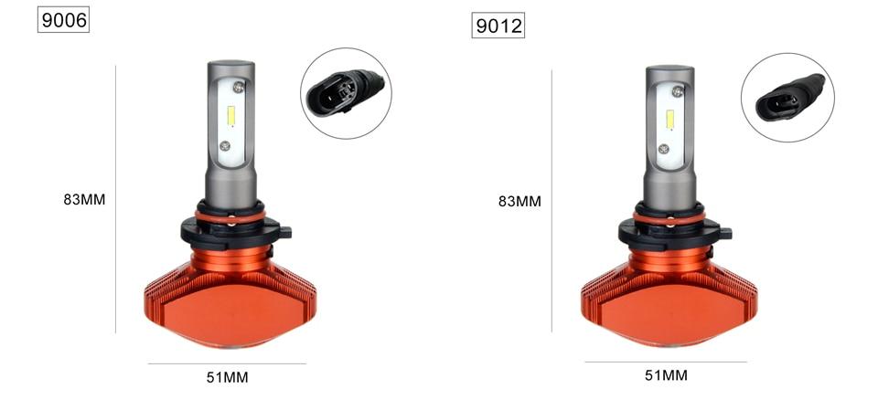 Zdatt AcooSun H4 H7 Led Car Bulb H11 H1 CSP LED Auto Headlight 80W 8000LMSet 9005HB3 9006HB4 H3K Led Fog Light White 6000K 12V 24V (11)