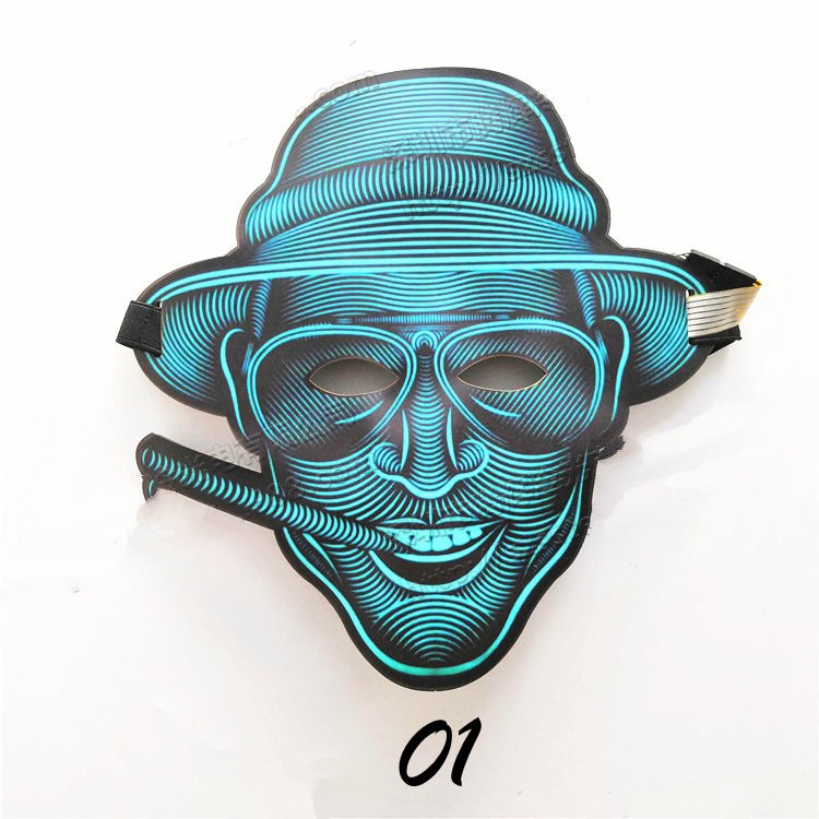Halloween LED Light Mask