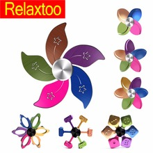 Buy Rainbow Metal Fidget Spinner Flower Finger Spinner Hand Alloy Gyro Colorful Leaves Adult Kid Child Rotation Spiner Toy Gyro for $3.50 in AliExpress store