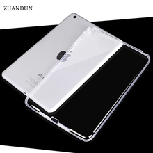 ZUANDUN Silicone Case For iPad 9.7 inch Transparent Clear Case 2017 For New iPad 2017 Slim Soft TPU Back Cover model A1822