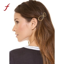 2017 New Arrival 1PC Fashion Women Positive Infinity Gold Barrette Hairpin Hair Clip Girls Hair Accessories Lovely Hairpin Hair