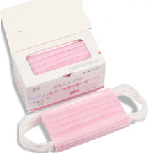 Pink disposable masks medical masks dust pm2.5 sunscreen breathable anti-bacteria mask(China)