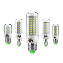SMD5730 LED Lamp E27 E14 LED Bulb 220V Corn Bulb 24 36 48 56 69 72LEDs Chandelier Candle LED Light For Home Decoration Luminaria(China)