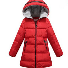 Girl coat Children's Outerwear thick Kids Fashion Casual Child Jackets For Girls Warm Winter Hooded Jacket Coats candy solid