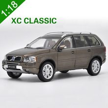 New High Quality 1:18 VOLVO Brown XC90 XC Classic T5 Car Model SUV Alloy Metal diecast Nordic Luxury Car For boy gift collection