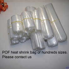 200pcs/lot middle size Transparent heat Shrink Wrapping bag Heat Seal POF Gift packing storage plastic bags Gift product package